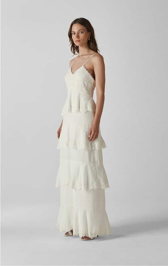 Whistles - Isla Tiered Wedding Dress - Robe de mariée pas cher - The Wedding Explorer