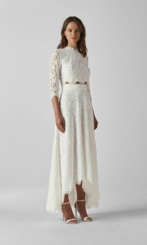 Whistles - Ariane Lace Wedding Separates Crop Top & Skirt - Robe de mariée pas cher - The Wedding Explorer