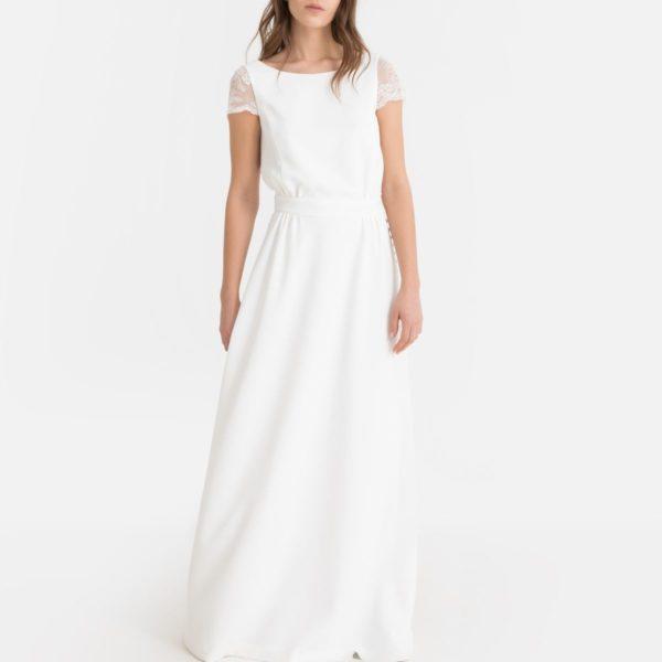 LA REDOUTE - Robe de mariée longue, décolleté dos dentelle - Robe de mariée pas cher - The Wedding Explorer