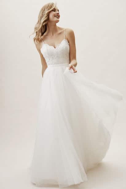 BHLDN - Clarke Skirt - Robe de mariée pas cher - The Wedding Explorer