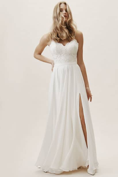 BHLDN - Atwell Skirt - Robe de mariée pas cher - The Wedding Explorer