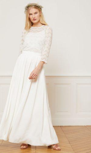 Etam - Jupe longue en crêpe - JEANNE - Robe de mariée pas cher - The Wedding Explorer