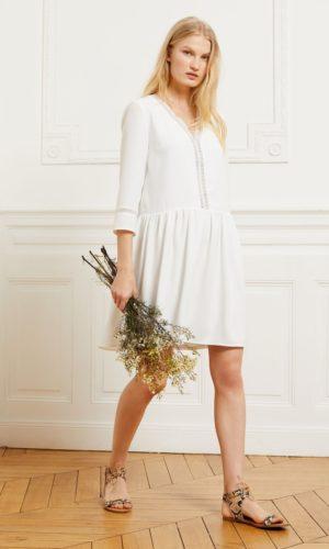 Etam - Robe courte à bandes dentelle - EMMA - Robe de mariée pas cher - The Wedding Explorer