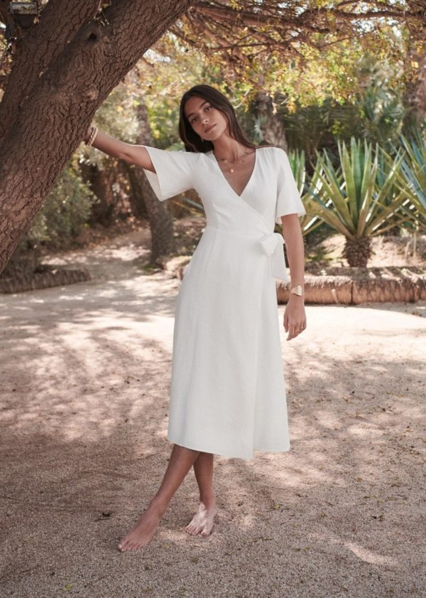 Sézane - Robe Apolline - Robe de mariée pas cher - The Wedding Explorer