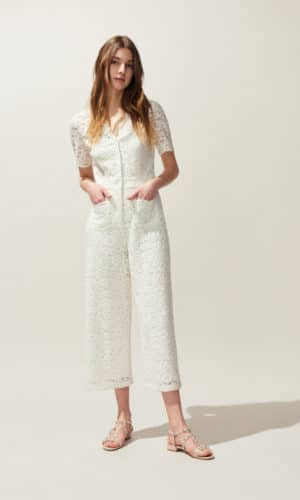 Claudie Pierlot - Combi-pantalon En Dentelle - Robe de mariée pas cher - The Wedding Explorer