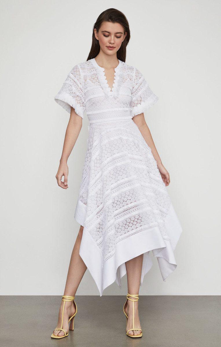 Hold asymmetrical lace wedding dress robe de mariee