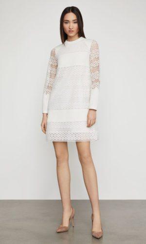BCBG - Circle Lace Shift Dress - Robe de mariée pas cher - The Wedding Explorer