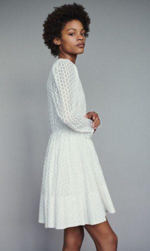 Maje - Robe en guipure géométrique - Robe de mariée pas cher - The Wedding Explorer