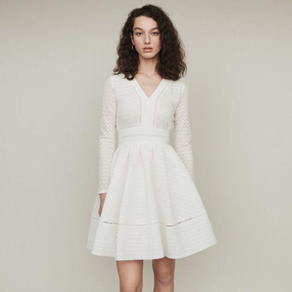 Maje - Robe patineuse en dentelle - Robe de mariée pas cher - The Wedding Explorer