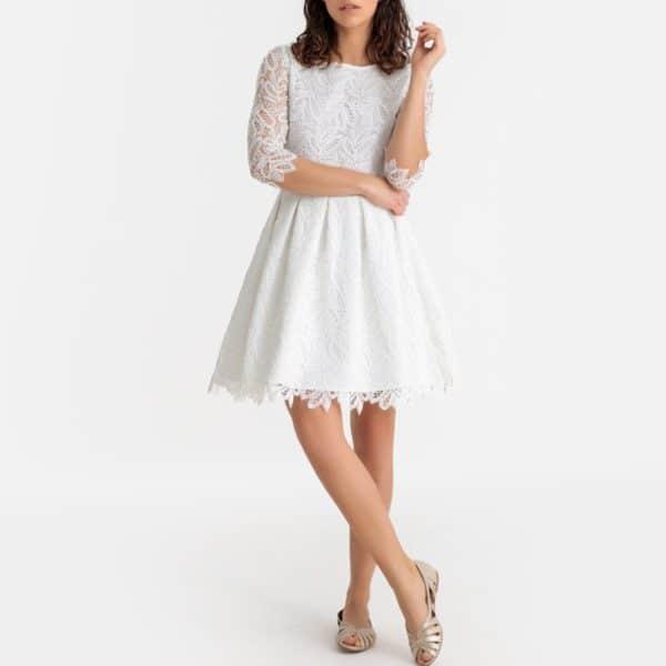 LA REDOUTE - Robe de mariée courte en guipure - Robe de mariée pas cher - The Wedding Explorer