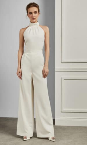 Ted Baker - OLIVVYA Combinaison large avec attache dans le cou - Robe de mariée pas cher - The Wedding Explorer