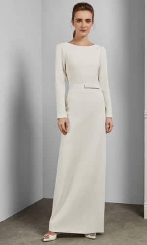 Ted Baker - RARRIELA Robe colonne avec dos nu - Robe de mariée pas cher - The Wedding Explorer