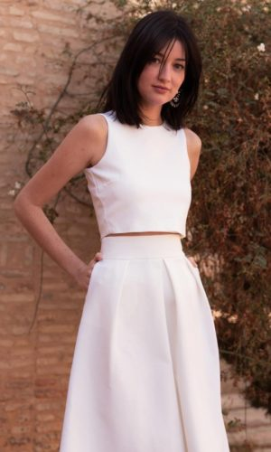 Maison Lemoine - Crop Top Clara Jersey - Robe de mariée pas cher - The Wedding Explorer