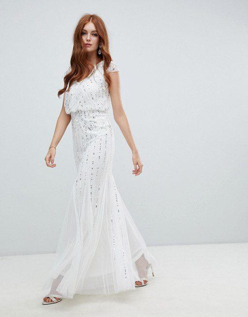 ASOS - Amelia Rose - Robe de mariage 2 en 1 ornée - Robe de mariée pas cher - The Wedding Explorer