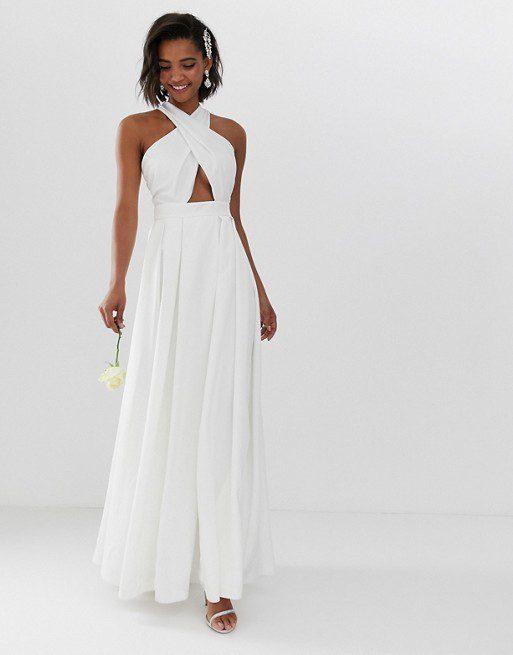 ASOS - Robe de mariée croisée sur le devant - Robe de mariée pas cher - The Wedding Explorer