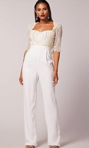 Virgos Lounge - Antonella Bridal Jumpsuit - Robe de mariée pas cher - The Wedding Explorer