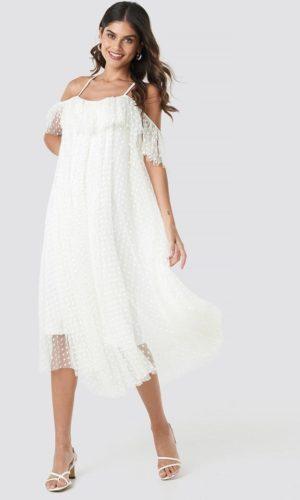 NA-KD - Elise Dress White by Ida Sjöstedt - Robe de mariée pas cher - The Wedding Explorer