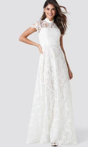 NA-KD - Siren Maxi Dress White by Ida Sjöstedt - Robe de mariée pas cher - The Wedding Explorer