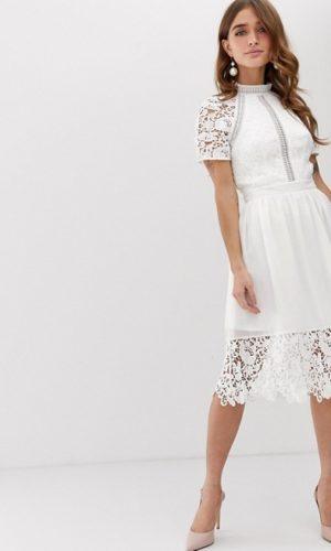 ASOS - Chi Chi London - Robe patineuse avec détail en dentelle - Robe de mariée pas cher - The Wedding Explorer