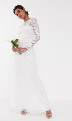 ASOS EDITION - Robe de mariage en tulle brodé motif floral - Robe de mariée pas cher - The Wedding Explorer