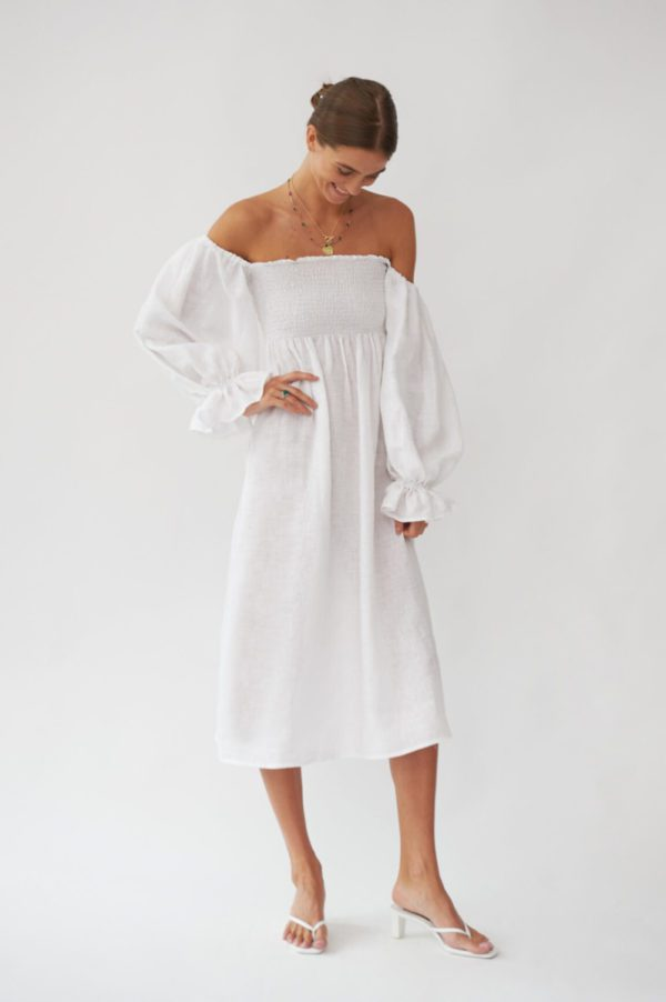Sleeper - Atlanta Linen Dress - Robe de mariée pas cher - The Wedding Explorer
