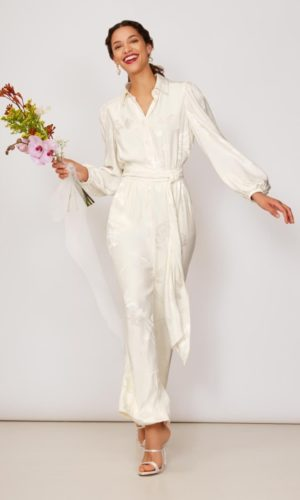 KITRI - Arbus Jacquard Jumpsuit - Robe de mariée pas cher - The Wedding Explorer