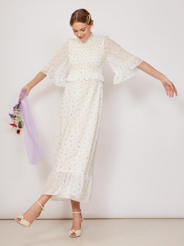 KITRI - Carrington Chiffon Smocked Dress - Robe de mariée pas cher - The Wedding Explorer