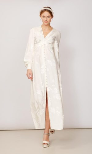 KITRI - Cassat Jacquard Maxi Dress - Robe de mariée pas cher - The Wedding Explorer