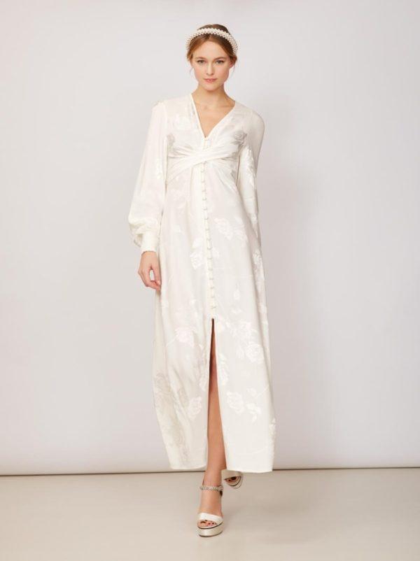 KITRI - Cassat Jacquard Maxi Dress - Robe de mariée pas cher - The Wedding Explorer