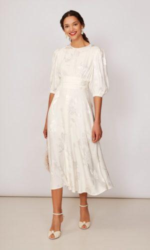 KITRI - Degas Jacquard Midi Dress - Robe de mariée pas cher - The Wedding Explorer