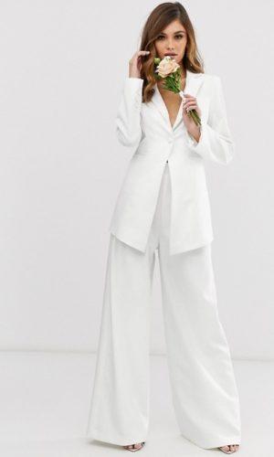 ASOS - Tailleur de mariage ajusté et pantalon large - Robe de mariée pas cher - The Wedding Explorer