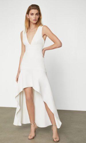 BCBG - Flounced Hem Gown - Robe de mariée pas cher - The Wedding Explorer