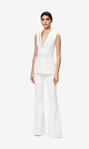 SAFIYAA - Tailleur pantalon Ivory Halluana - Robe de mariée pas cher - The Wedding Explorer