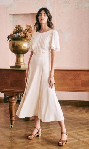 Sézane - Robe Megan - Robe de mariée pas cher - The Wedding Explorer