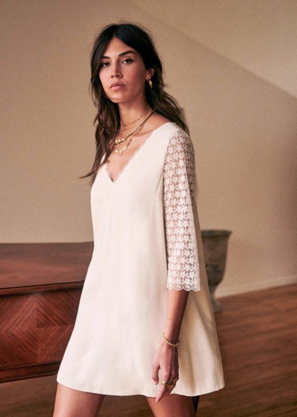 Sézane - Robe Courrau - Robe de mariée pas cher - The Wedding Explorer