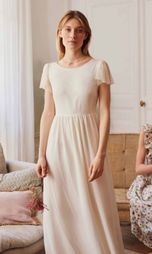 BALZAC PARIS x LA REDOUTE - Robe de mariée Eve longue manches courtes - Robe de mariée pas cher - The Wedding Explorer