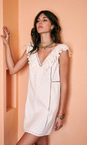 Sézane - Robe Martie en coton bio - Robe de mariée pas cher - The Wedding Explorer