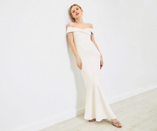 Oasis - Robe de mariée Bardot - Robe de mariée pas cher - The Wedding Explorer