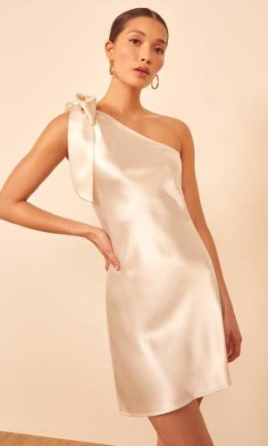 Reformation - Acacia Silk Mini Dress - Robe de mariée pas cher - The Wedding Explorer