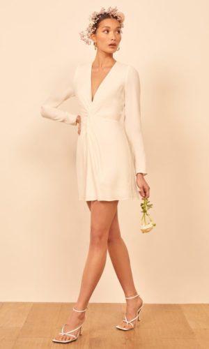Reformation - Tulips Short Wedding Dress - Robe de mariée pas cher - The Wedding Explorer