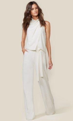 HALSTON - COWL DRAPE JUMPSUIT - Robe de mariée pas cher - The Wedding Explorer