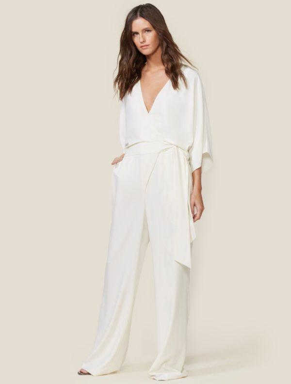 HALSTON - KIMONO WRAP JUMPSUIT - Robe de mariée pas cher - The Wedding Explorer