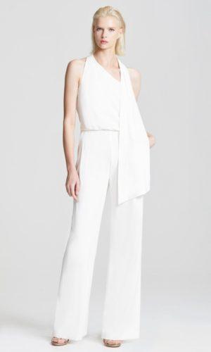 HALSTON - SCARF NECK JUMPSUIT - Robe de mariée pas cher - The Wedding Explorer
