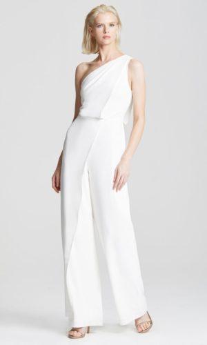 HALSTON - ASYMMETRIC DRAPED JUMPSUIT - Robe de mariée pas cher - The Wedding Explorer