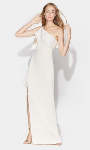 HALSTON - SATIN DRAPE GOWN - Robe de mariée pas cher - The Wedding Explorer