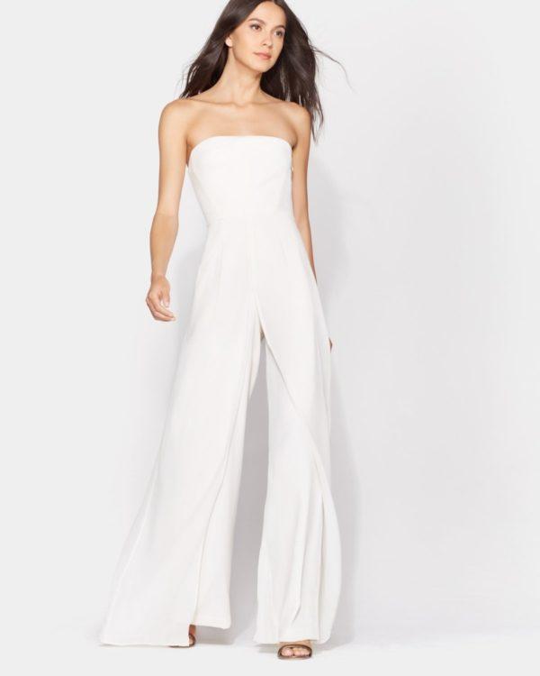 HALSTON - STRAPLESS JUMPSUIT - Robe de mariée pas cher - The Wedding Explorer