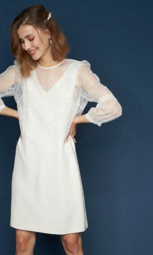 Maison 123 - Robe en dentelle Olivier - Robe de mariée pas cher - The Wedding Explorer