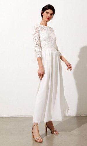 Etam - Robe dos ouvert en dentelle fleurie Valentine - Robe de mariée pas cher - The Wedding Explorer