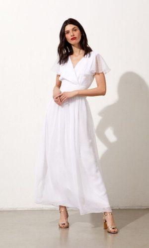 Etam - Robe longue en plumetis Josephine - Robe de mariée pas cher - The Wedding Explorer