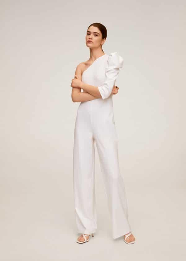 MANGO - Combinaison asymétrique - Robe de mariée pas cher - The Wedding Explorer
